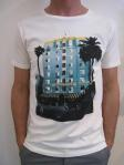MODERN AMUSEMENT Miami tee, white $70