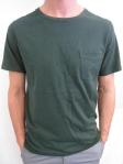 WEATHERED pocket tee, forest green, $45