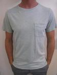 WEATHERED pocket tee, blue marle, $45