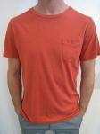 WEATHERED pocket tee, rust, $45