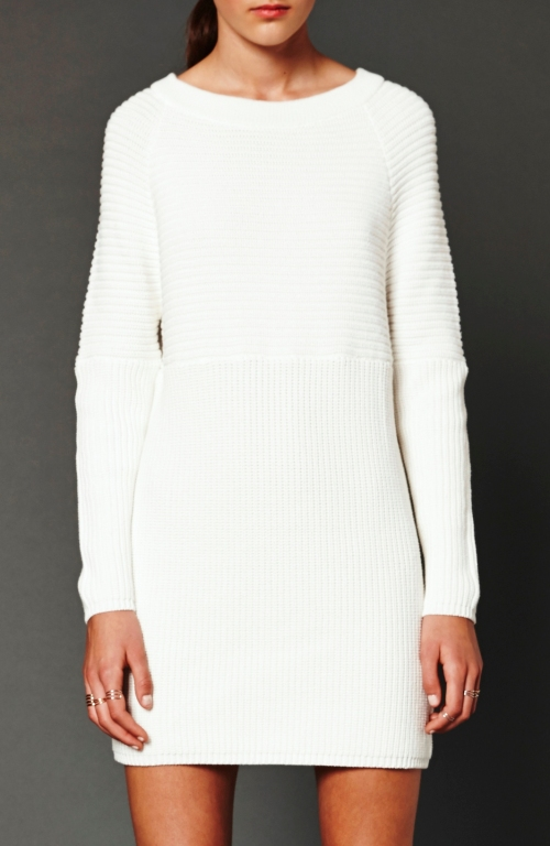 crop white jumper dress