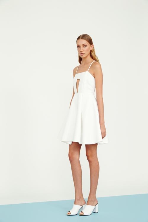72 UT2794 jacquard bustier dress